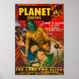 Couverture de magazine d'histoires de planète 6 posters