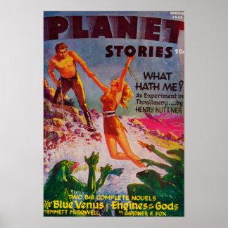 Couverture de magazine d'histoires de planète 8 posters