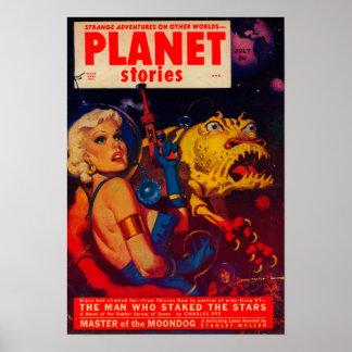 Couverture de magazine d'histoires de planète posters