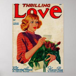 Couverture de magazine excitante d'amour posters