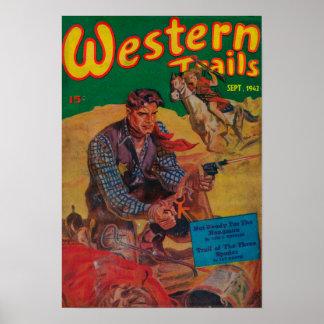 Couverture de magazine occidentale de traînées 2 posters