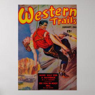 Couverture de magazine occidentale de traînées 3 posters