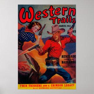 Couverture de magazine occidentale de traînées posters