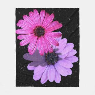 Couverture de milieu de goutte de pluie de fleur