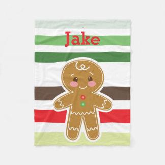 Couverture de Noël de garçon de pain d'épice