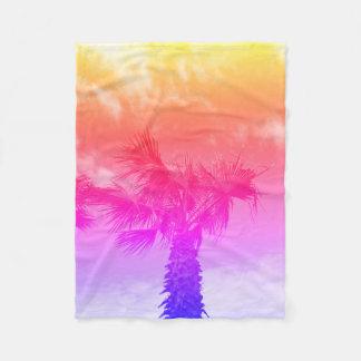 Couverture de palmier de couleur