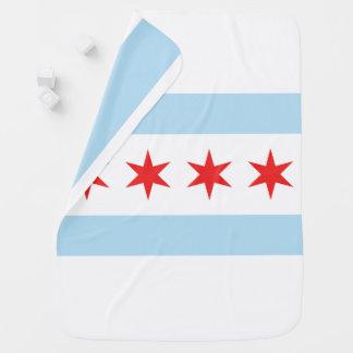 Couverture de poussette de drapeau de Chicago Couvertures Pour Bébé