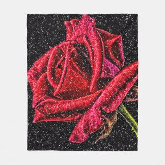 Couverture de rose rouge
