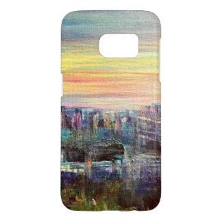 Couverture de téléphone d'horizon de ville coque samsung galaxy s7