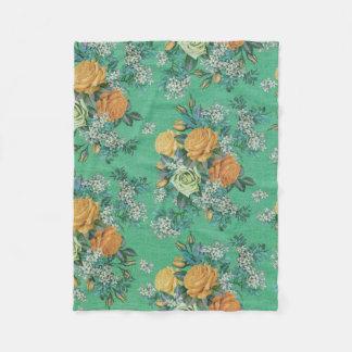 couverture décorative d'ouatine de fleur colorée