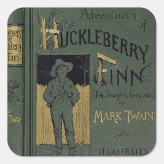 """Couverture des """"aventures de Huckleberry Finn"""" par Sticker Carré"""