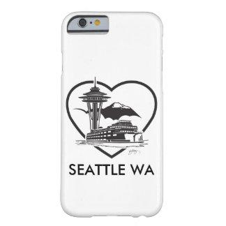 couverture d'iPhone avec un graphique de Seattle Coque iPhone 6 Barely There