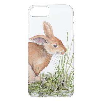 Couverture d'iPhone de lapin d'aquarelle Coque iPhone 7