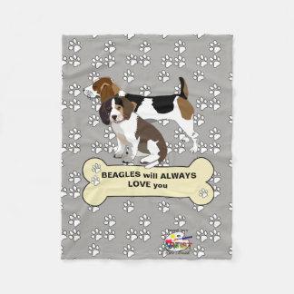 Couverture d'ouatine de beagle