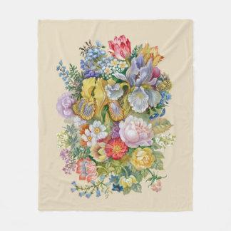Couverture d'ouatine de bouquet de fleur