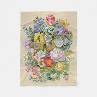 Couverture d'ouatine de bouquet de fleur petite