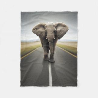 Couverture d'ouatine de camionneur d'éléphant