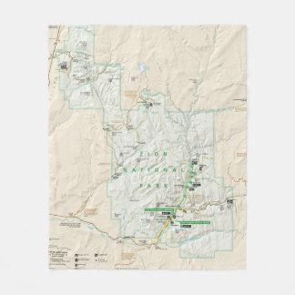 Couverture d'ouatine de carte de parc national de