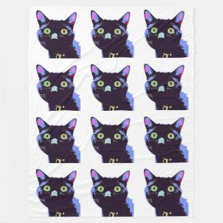 Couverture d'ouatine de chat noir