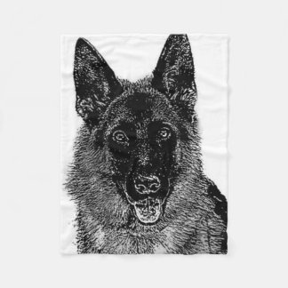Couverture d'ouatine de chien de berger allemand