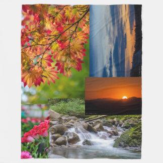 Couverture d'ouatine de collage de photo de nature