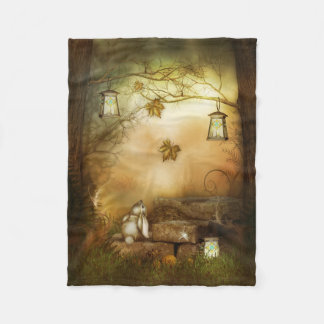 Couverture d'ouatine de forêt de conte de fées