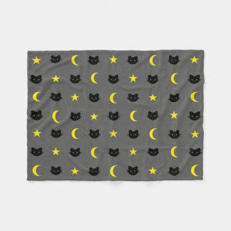 Couverture d'ouatine de lune de chat de Kitty et