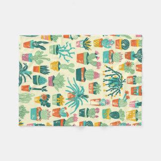 Couverture d'ouatine de motif de fleur de cactus