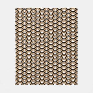 Couverture d'ouatine de motif de nid d'abeilles de