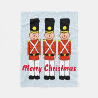 Couverture d'ouatine de Noël de soldat de Noël