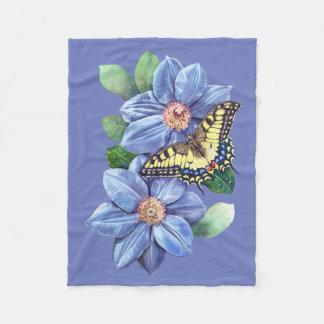 Couverture d'ouatine de papillon d'aquarelle