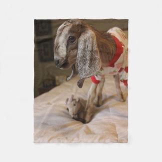 Couverture d'ouatine de partie de pyjama de chèvre