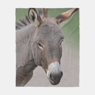 Couverture d'ouatine de portrait d'âne
