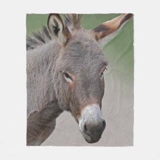 Couverture d'ouatine de portrait d'âne couverture polaire