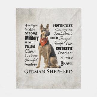 Couverture d'ouatine de traits de berger allemand