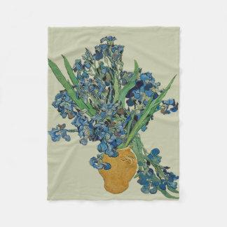 Couverture d'ouatine d'iris de Van Gogh
