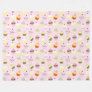 Couverture douce colorée d'ouatine de motif de