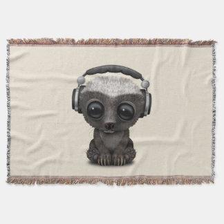 Couverture Écouteurs de port mignons du DJ de blaireau de