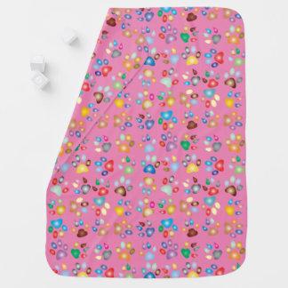 Couverture en pastel rose de bébé d'empreinte de couvertures pour bébé