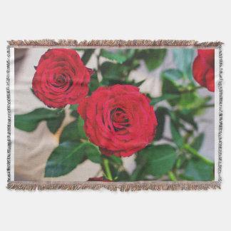 couverture faite sur commande de jet de 2 roses