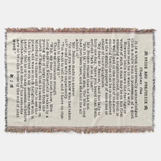 Couverture Fierté de Jane Austen et citation de littérature