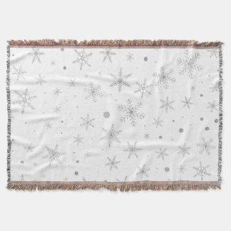 Couverture Flocon de neige de scintillement - gris et Blanc