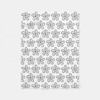 Couverture florale grise de danse d'ouatine de