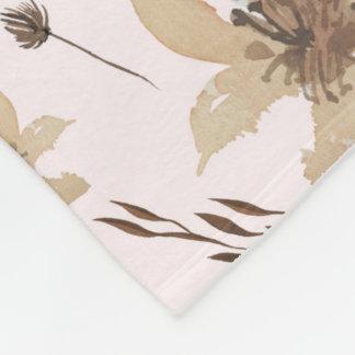 Couverture florale pour aquarelle d'automne