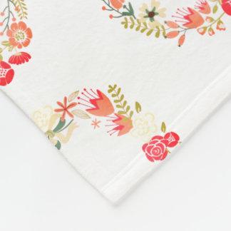 Couverture florale rose d'ouatine de motif de