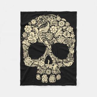 Couverture florale vintage d'ouatine de crâne de