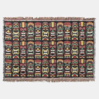 Couverture fraîche de jet de totems de Tiki