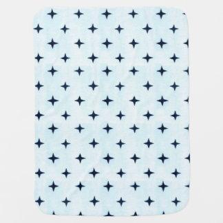 Couverture géométrique de bébé bleu couvertures de bébé