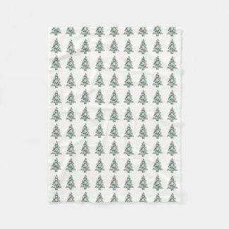 Couverture géométrique d'ouatine d'arbre de Noël