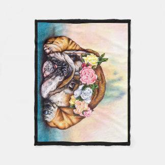 Couverture Girly douce de bouledogue - chien